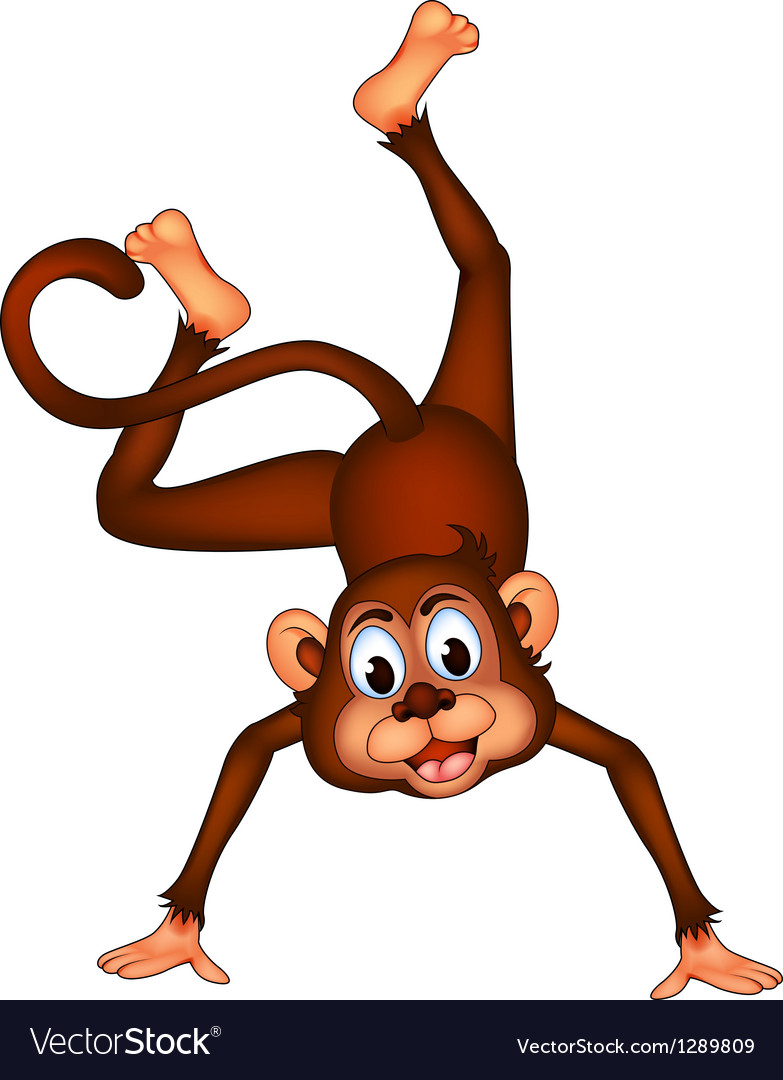 Cute monkey cartoon expression vector | Price: 1 Credit (USD $1)