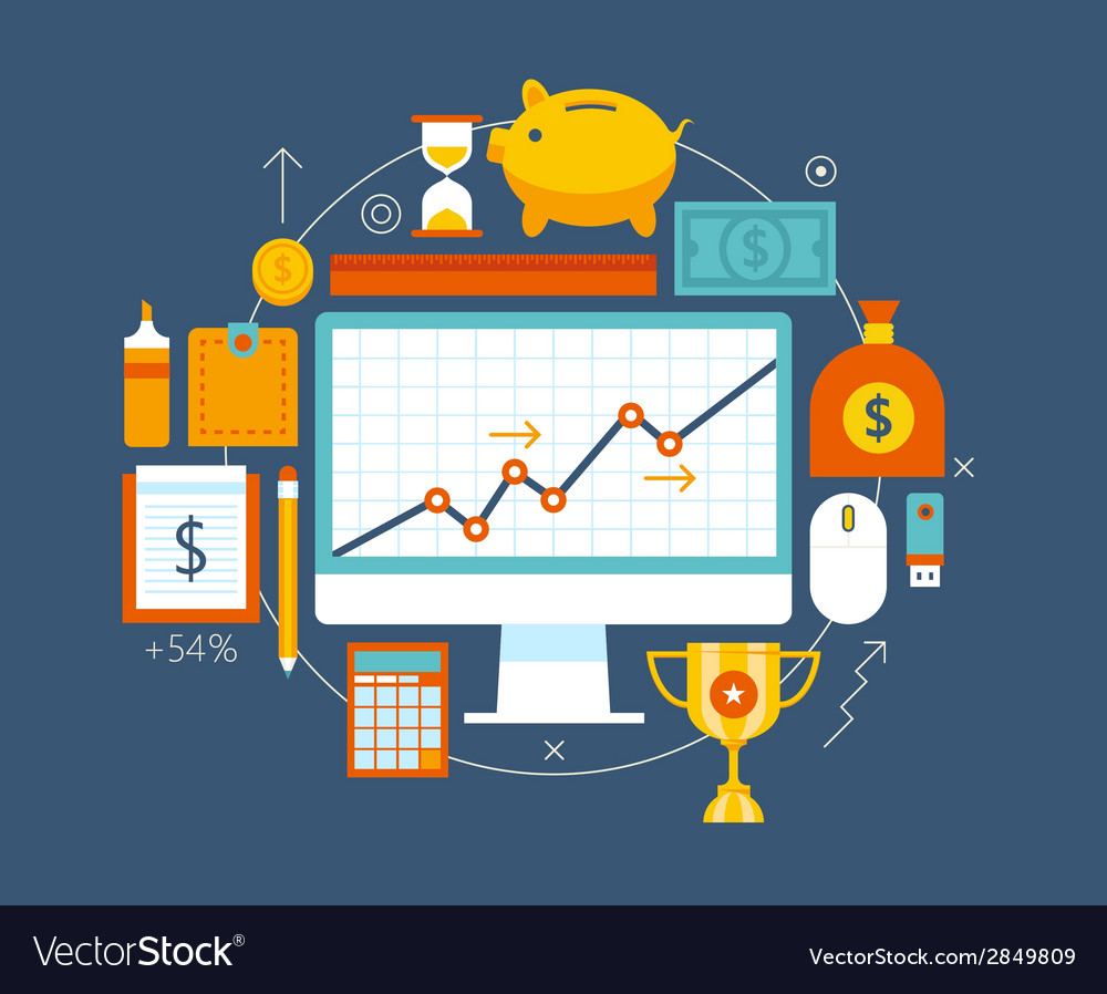 Finance and money items collection vector | Price: 1 Credit (USD $1)