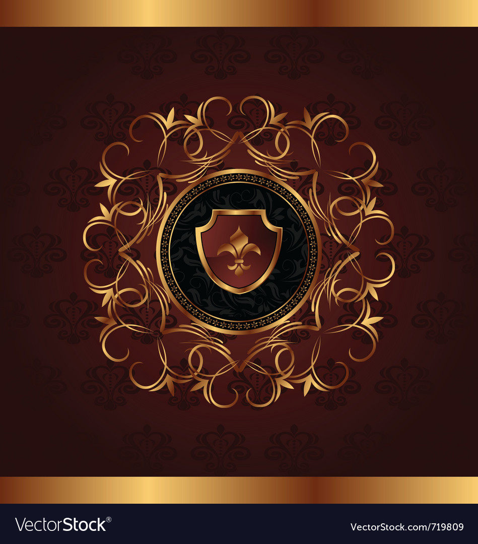 Gold vintage for design packing - vector | Price: 1 Credit (USD $1)