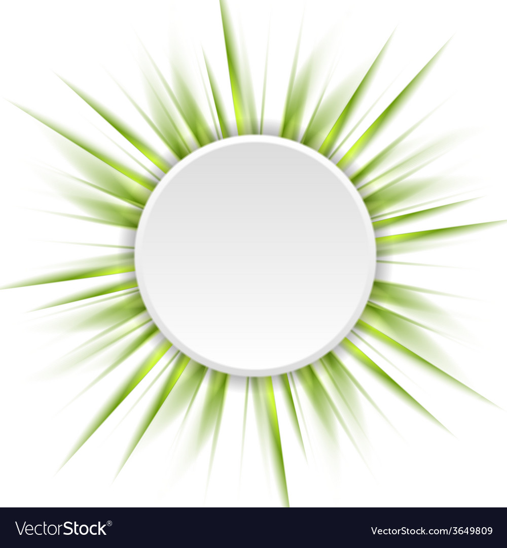 Green beams and white circle abstract background vector | Price: 1 Credit (USD $1)