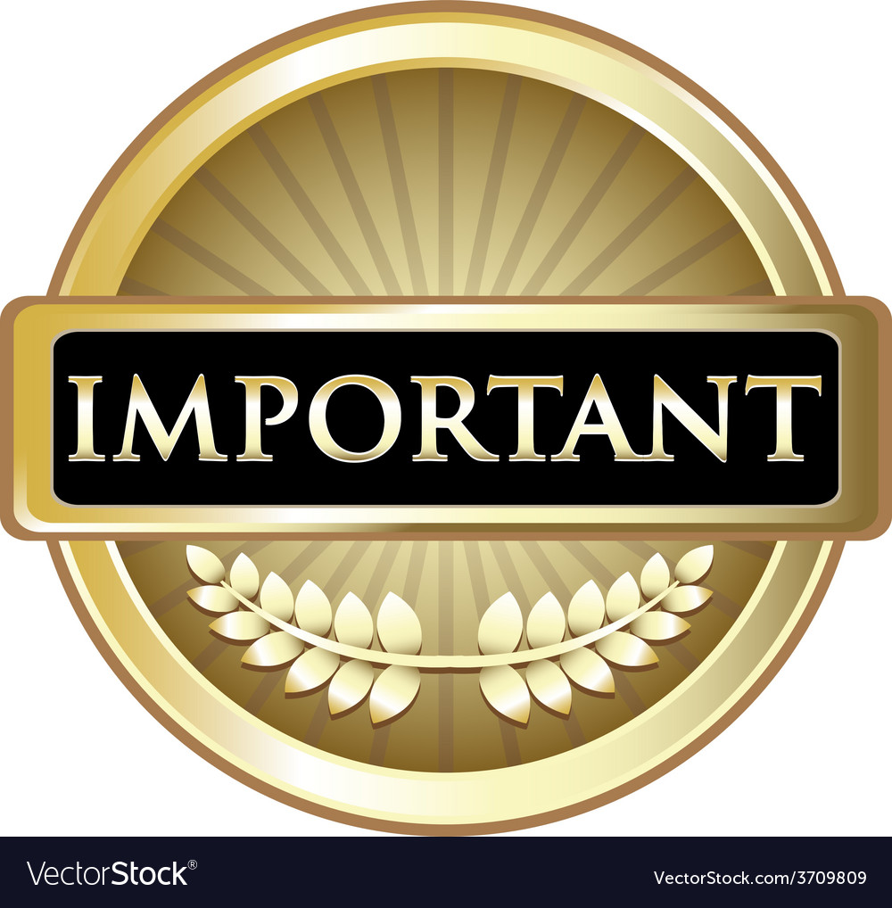 Important gold label vector | Price: 1 Credit (USD $1)