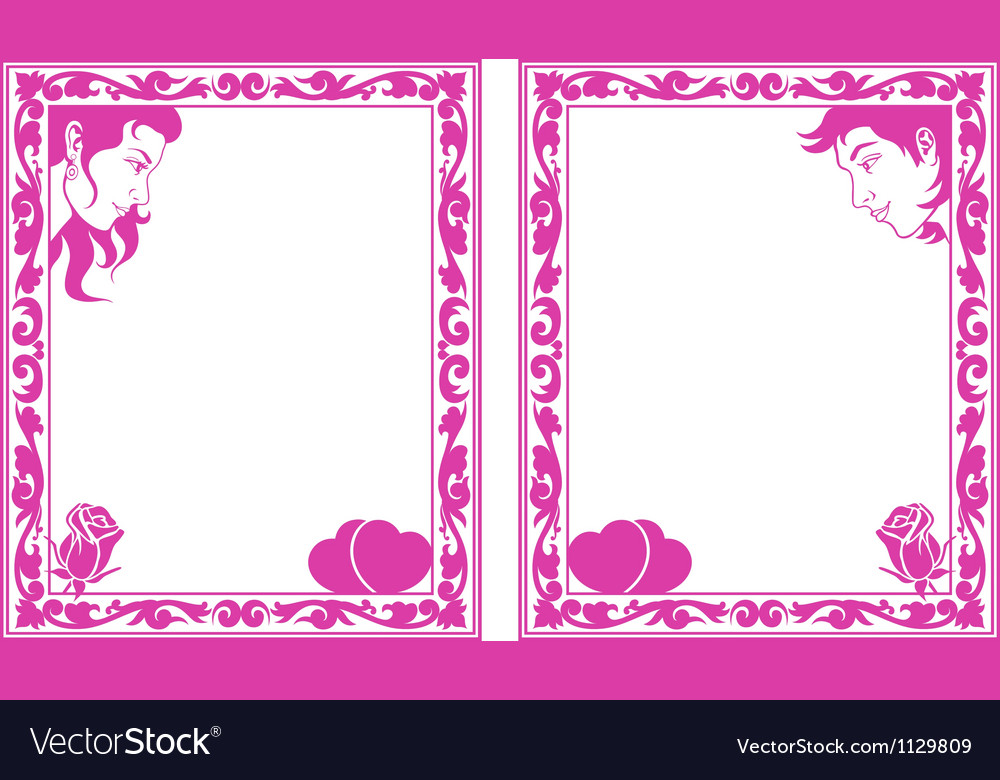 Love frame vector | Price: 1 Credit (USD $1)