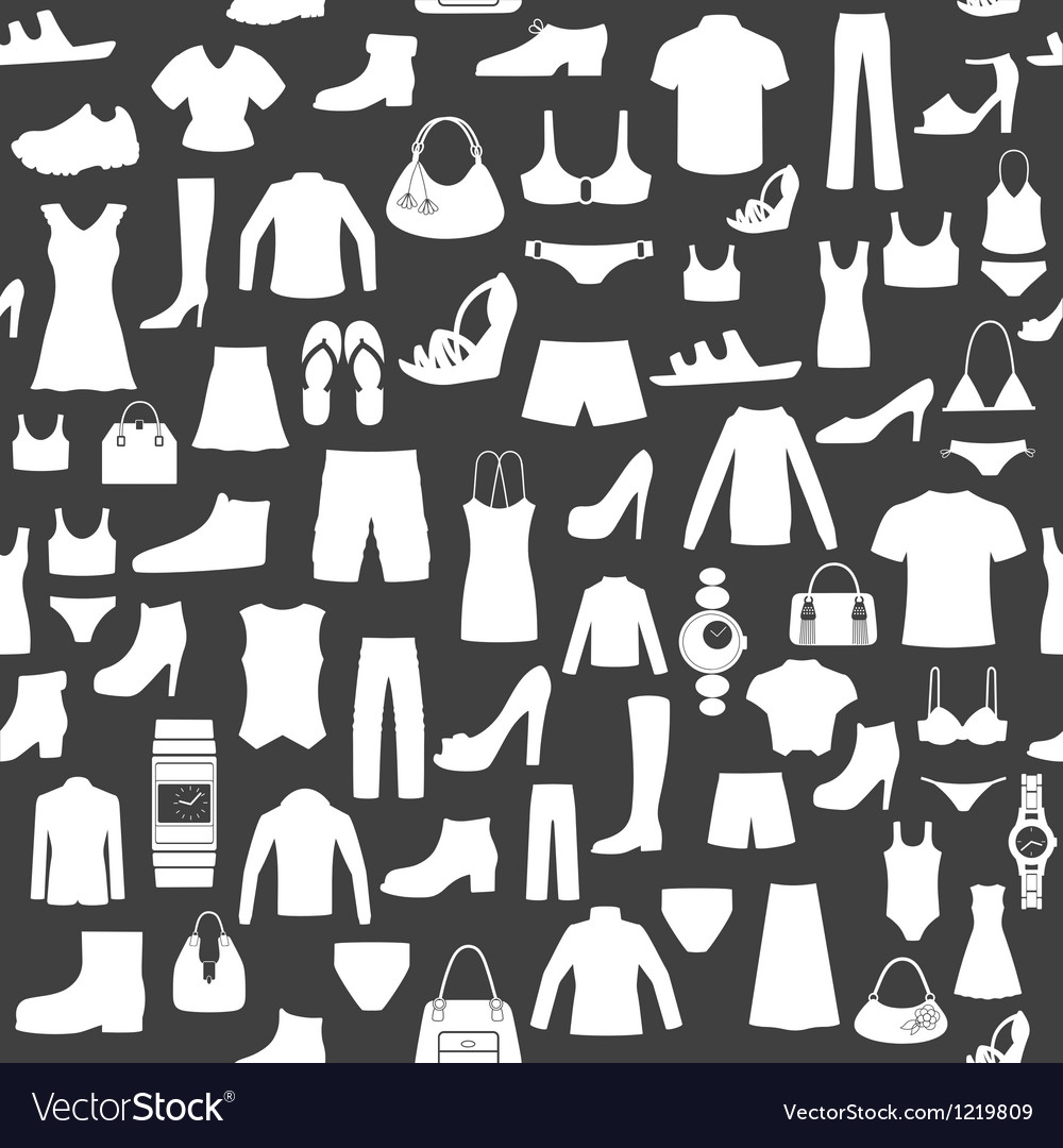 Seamless background with clothing vector | Price: 1 Credit (USD $1)