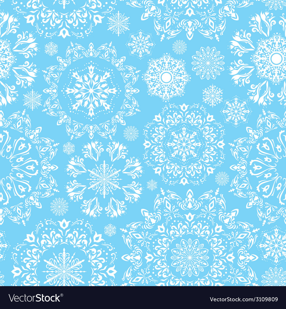 Seamless snow pattern vector | Price: 1 Credit (USD $1)