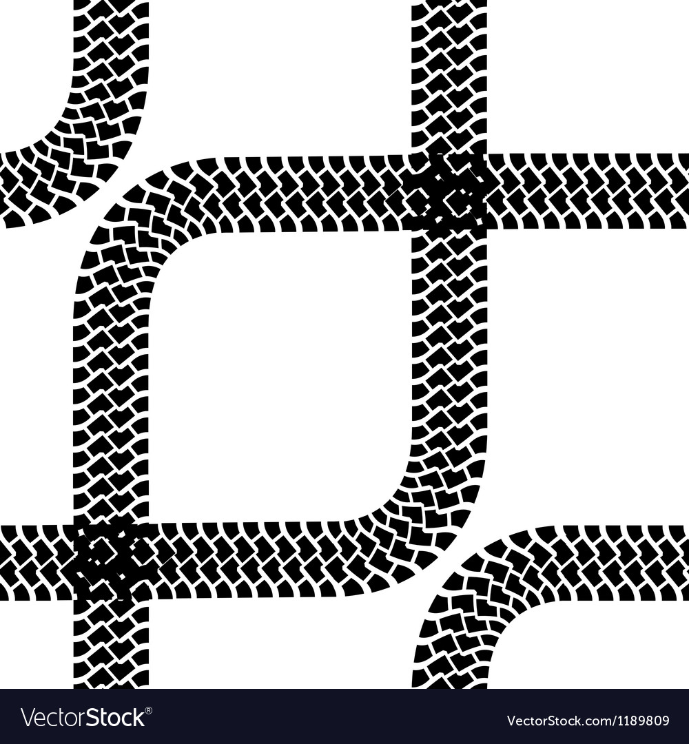 Seamless wallpaper tire tracks pattern background vector | Price: 1 Credit (USD $1)