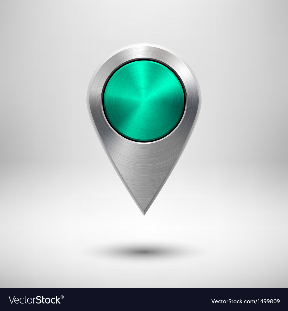Technology map pointer with green metal texture vector | Price: 1 Credit (USD $1)
