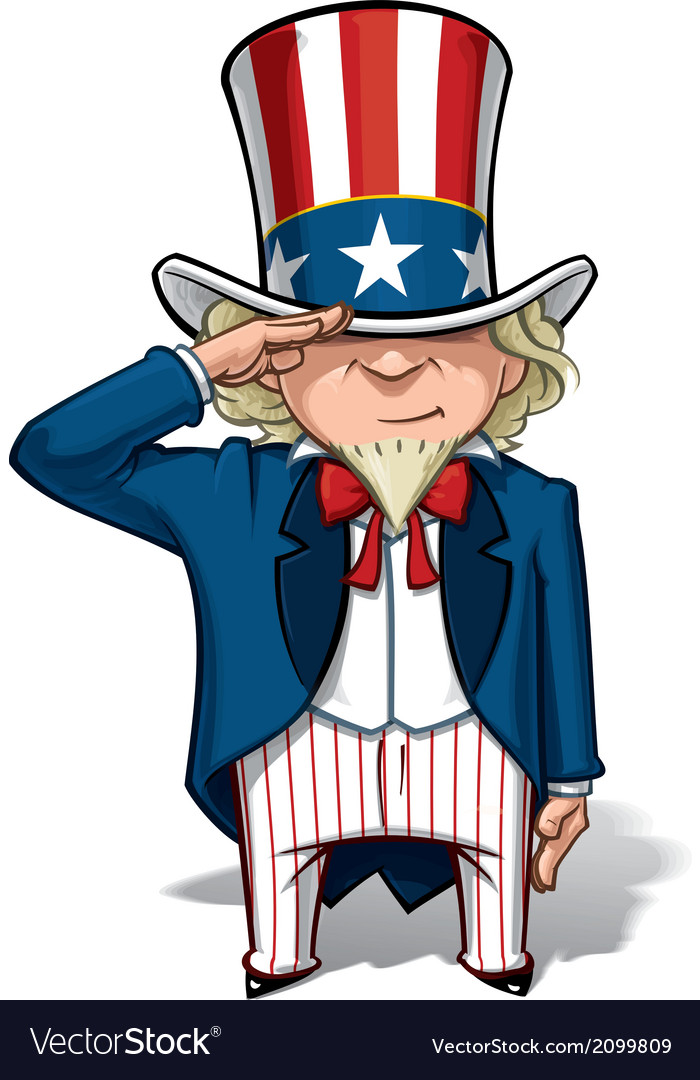 Uncle sam saluting vector | Price: 1 Credit (USD $1)