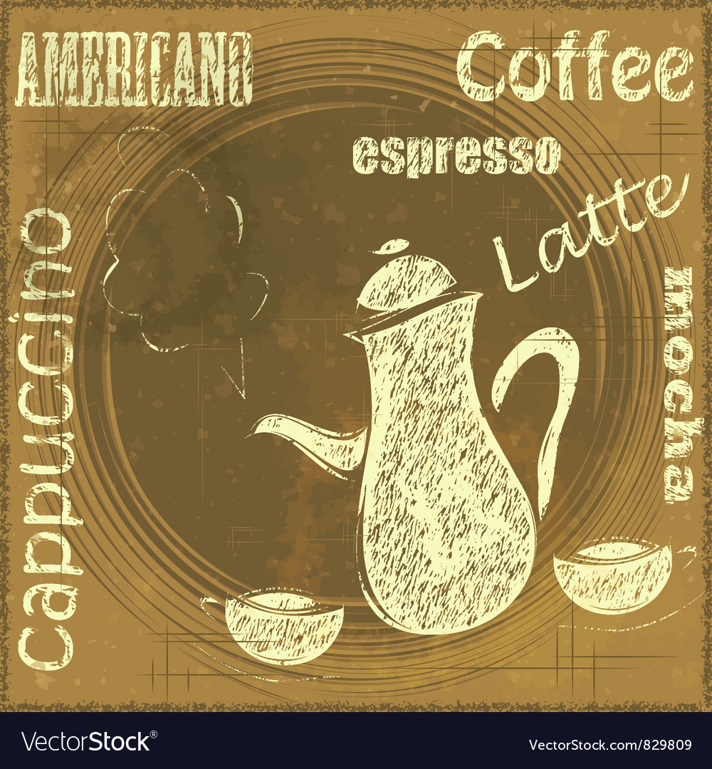 Vintage stand for coffee vector | Price: 1 Credit (USD $1)