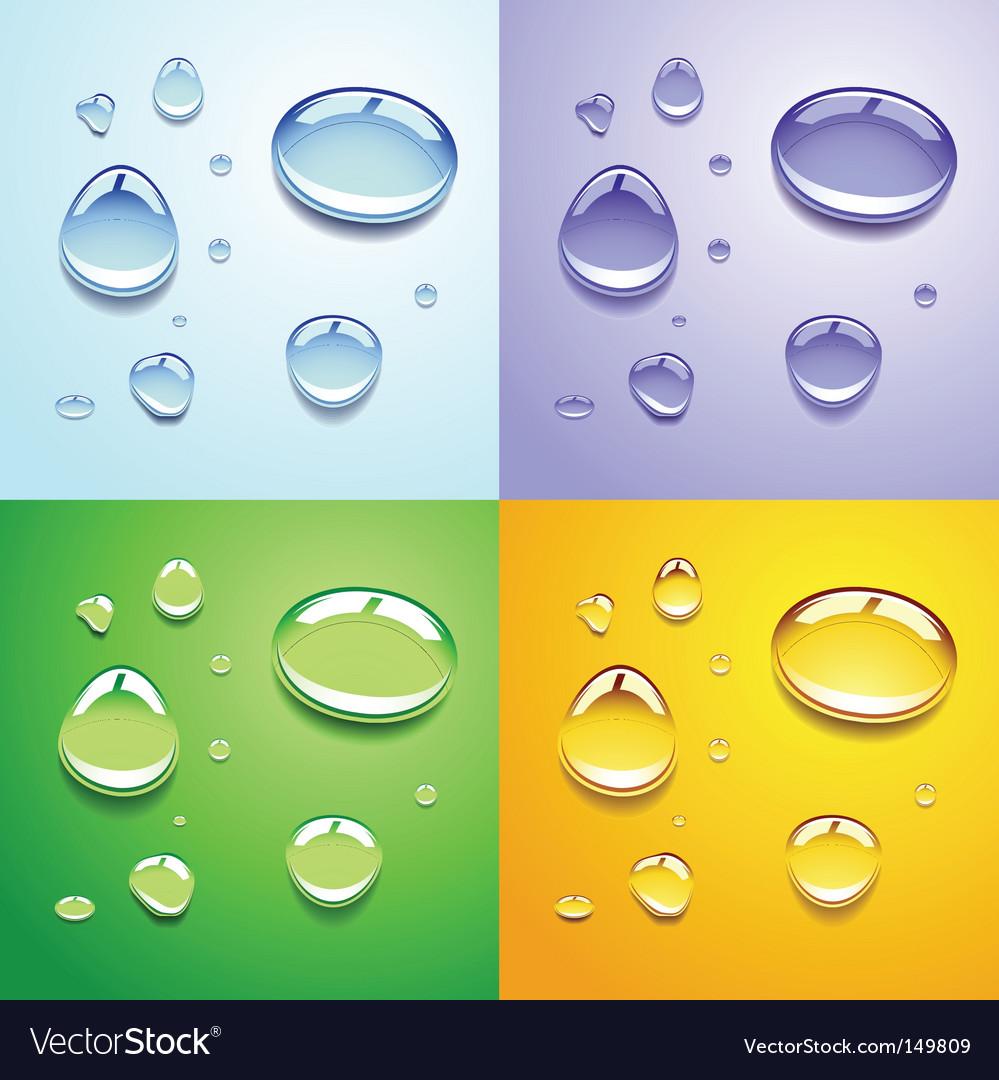 Water drops vector | Price: 1 Credit (USD $1)