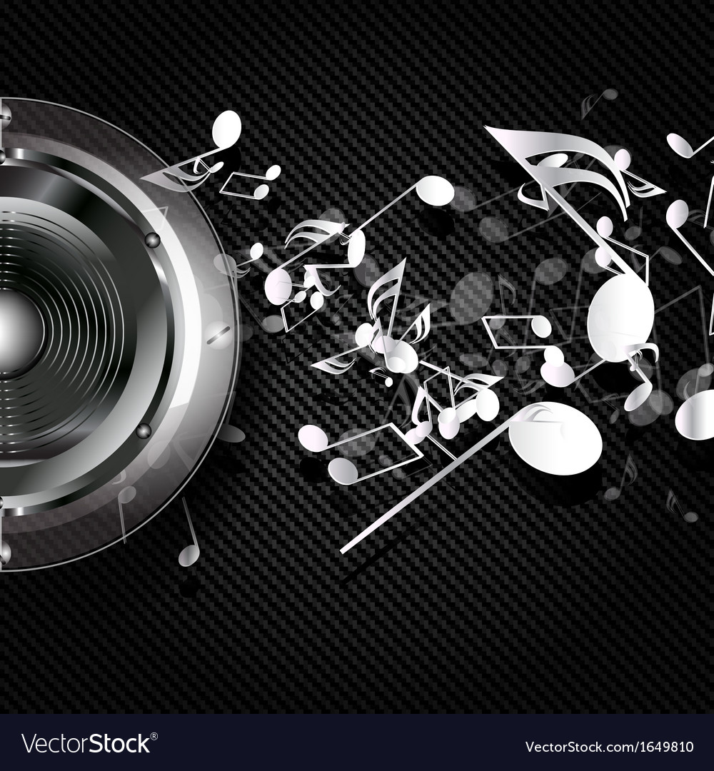 Abstract musical background with carbon texture vector | Price: 1 Credit (USD $1)