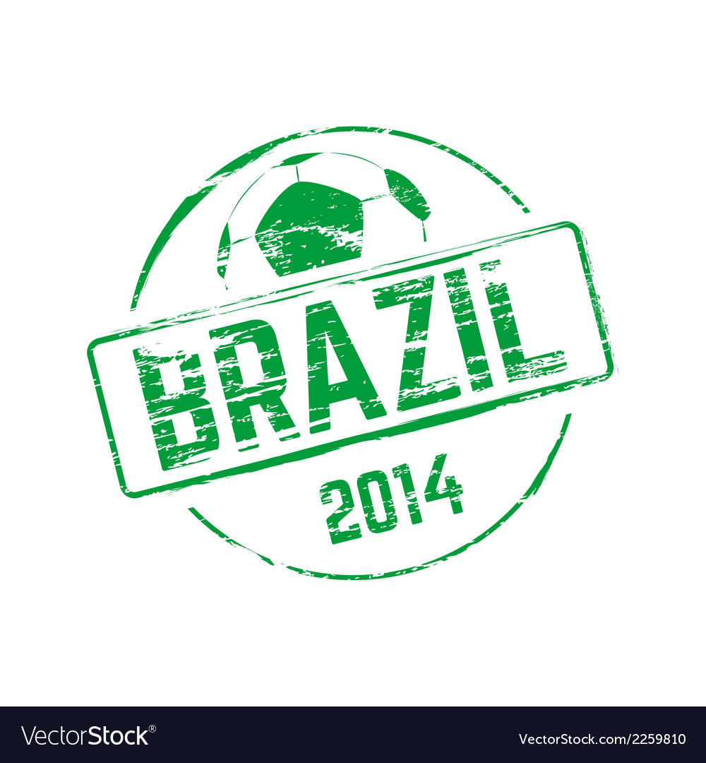 Brazil 2014 grunge rubber stamp vector | Price: 1 Credit (USD $1)