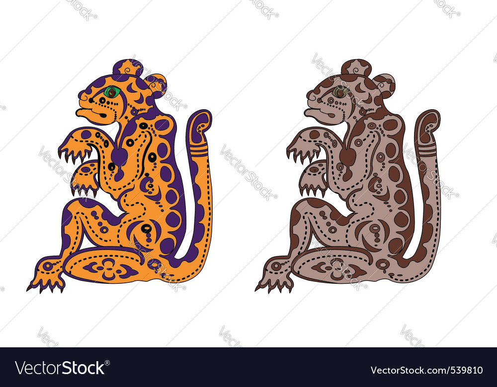Deity leopards vector | Price: 1 Credit (USD $1)
