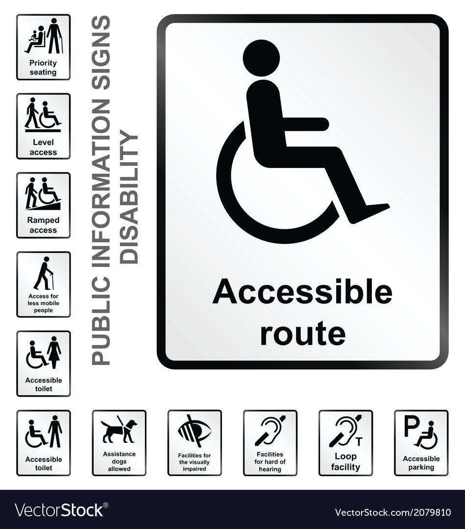 Disability information signs vector | Price: 1 Credit (USD $1)
