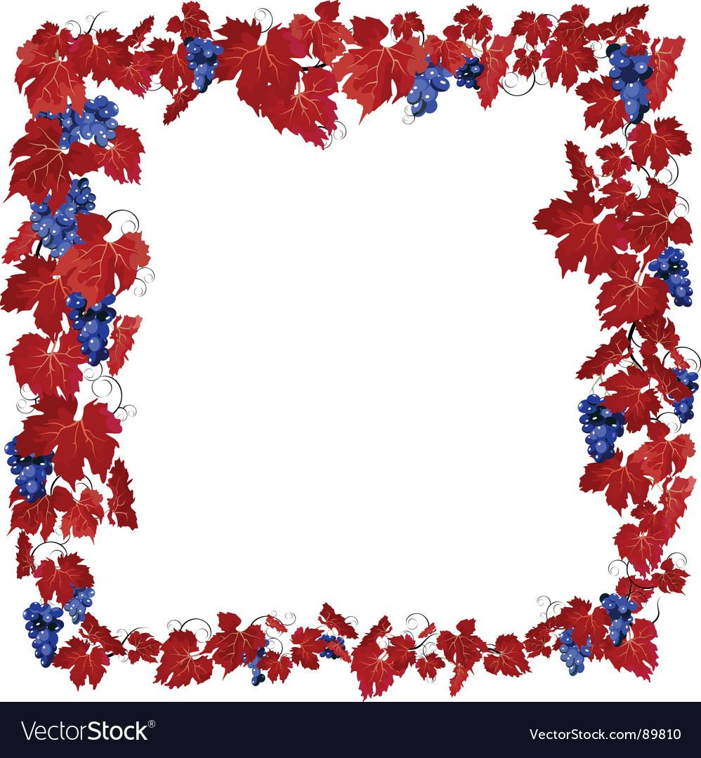 Grape border vector | Price: 1 Credit (USD $1)