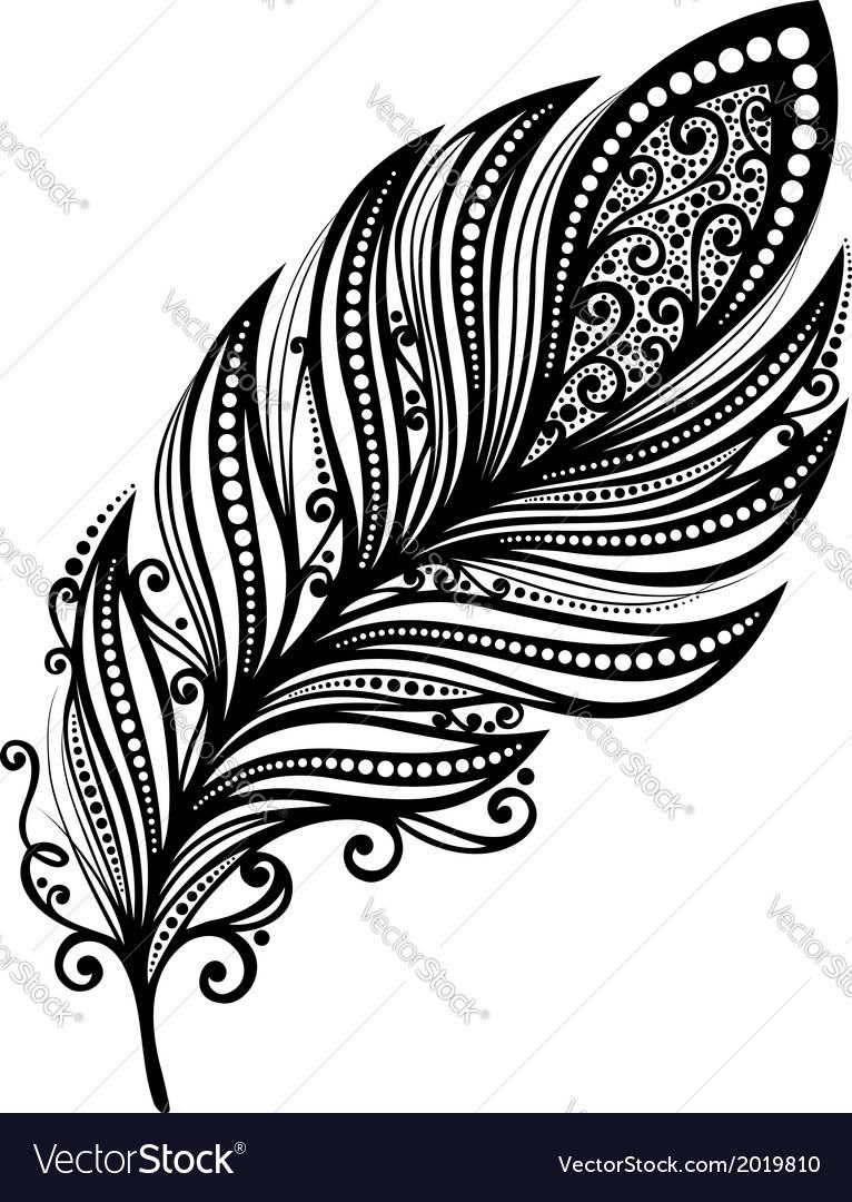 Peerless decorative feather vector | Price: 1 Credit (USD $1)