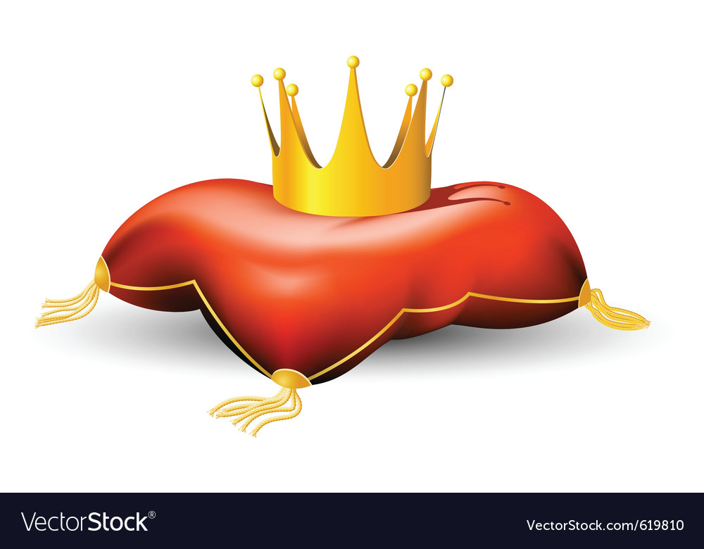 Royal crown on the pillow vector | Price: 1 Credit (USD $1)