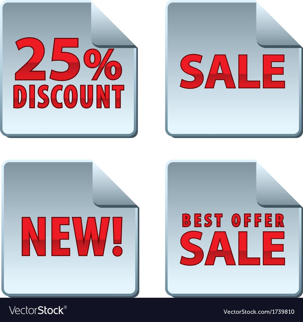 Sale badges vector   Price: 1 Credit (USD $1)