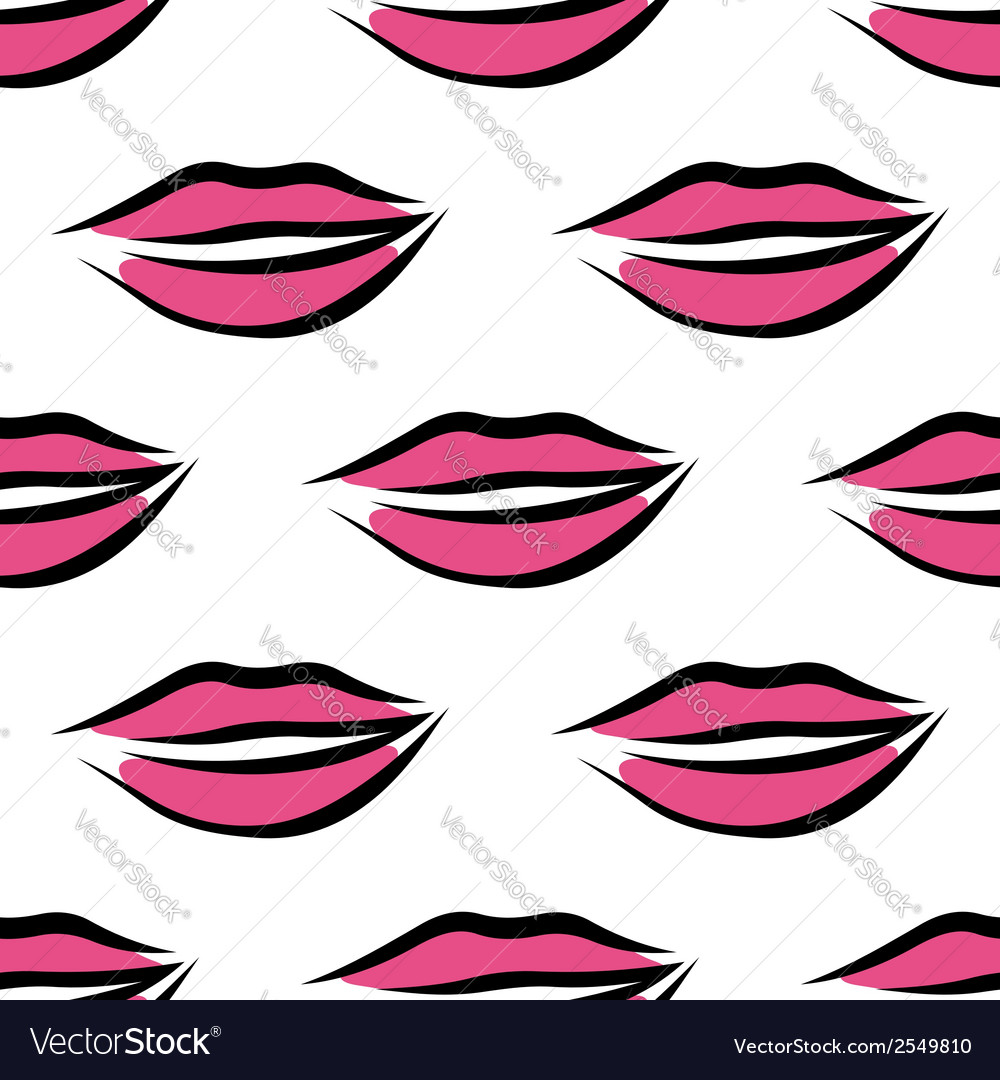 Sexy parted female lips seamless pattern vector   Price: 1 Credit (USD $1)
