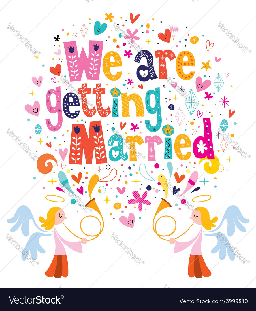We are getting married wedding invitation card 2 vector | Price: 1 Credit (USD $1)