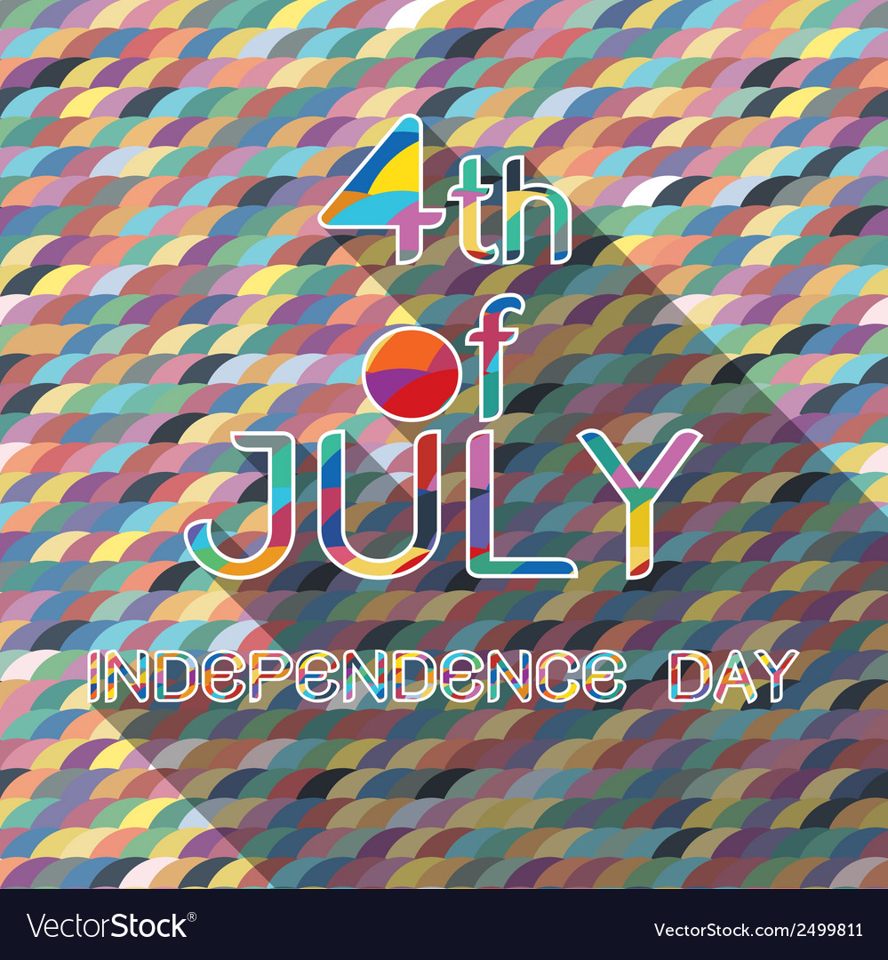 4th julywith pattern background vector | Price: 1 Credit (USD $1)