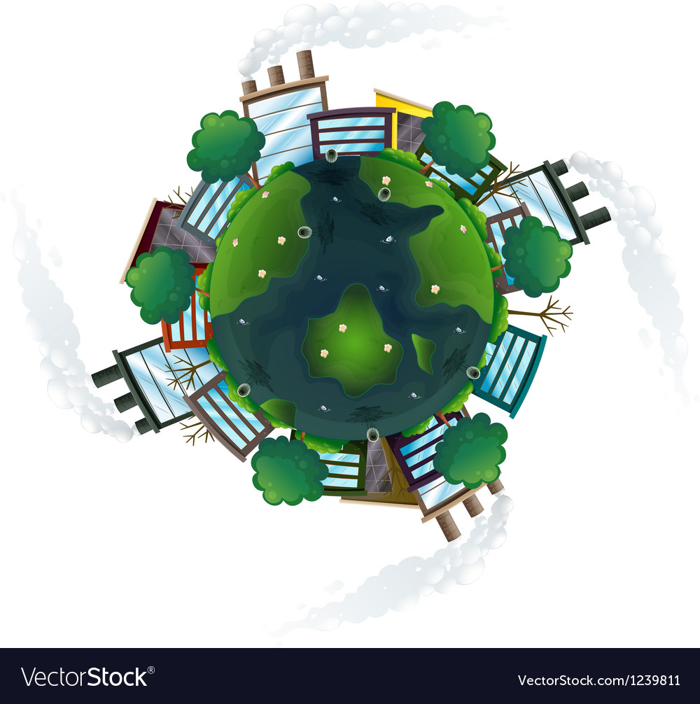 An aerial view of the planet earth vector | Price: 1 Credit (USD $1)