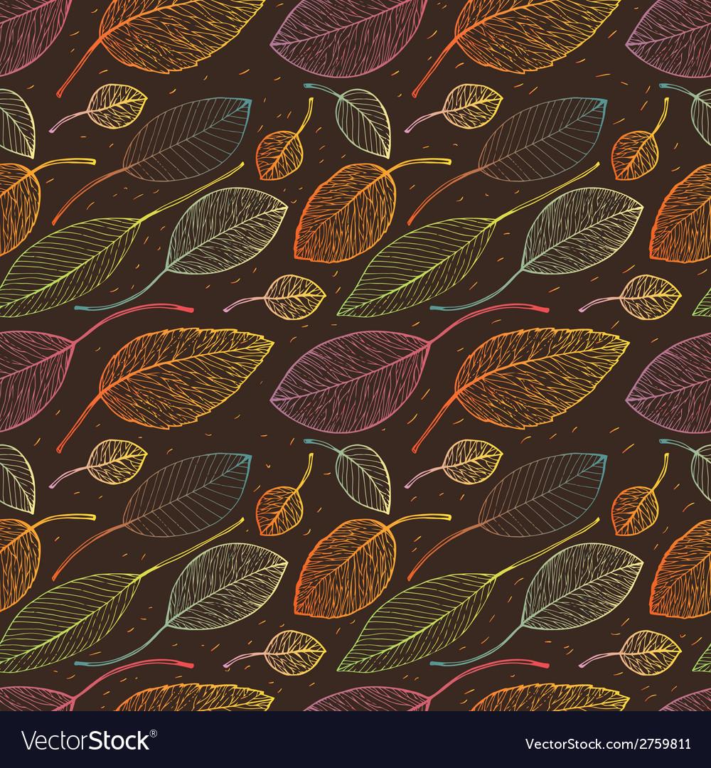 Autumn leaf background vector | Price: 1 Credit (USD $1)