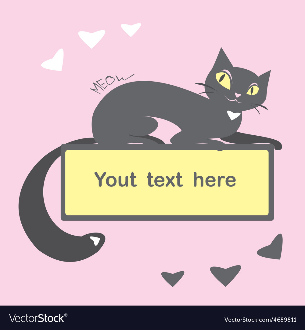 Background with black cat and space for text vector | Price: 1 Credit (USD $1)