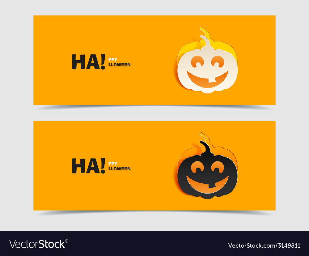 Black and wight smile pumpkin paper cut out vector | Price: 1 Credit (USD $1)