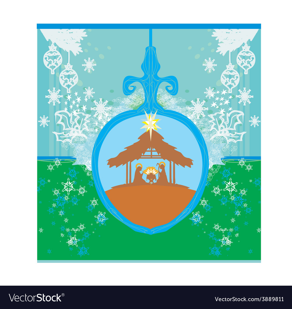 Christian christmas nativity scene of baby jesus vector | Price: 1 Credit (USD $1)