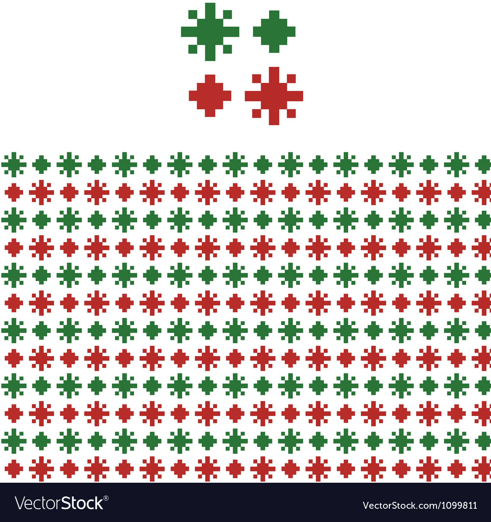 Christmas geometric pattern swatch vector | Price: 1 Credit (USD $1)