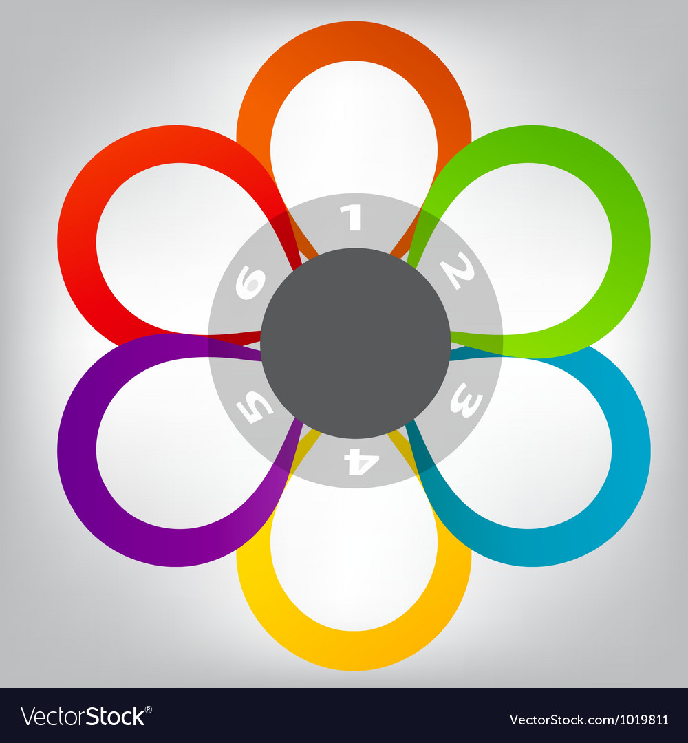 Concept of colorful circular banners in flower vector | Price: 1 Credit (USD $1)