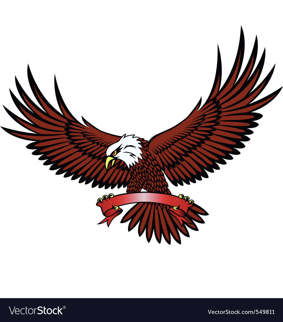 Eagle with emblem vector | Price: 1 Credit (USD $1)