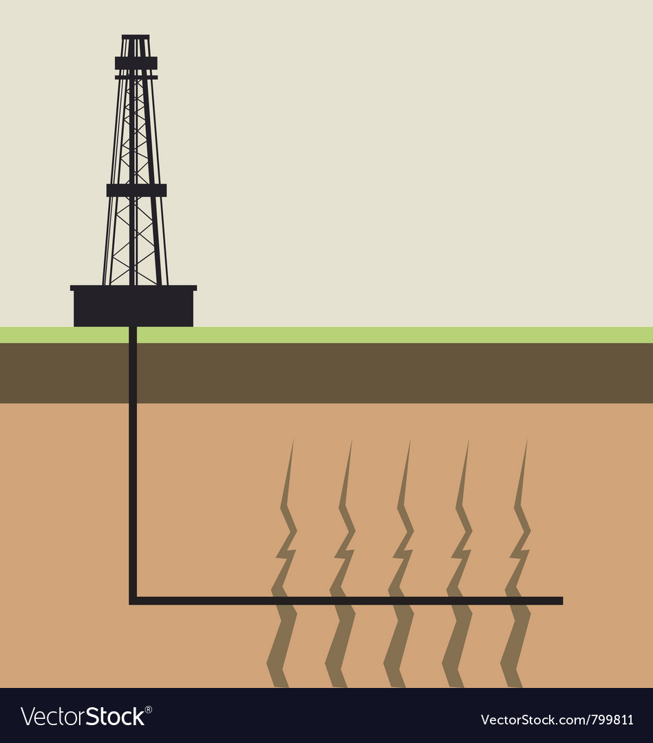 Fracking diagram vector | Price: 1 Credit (USD $1)