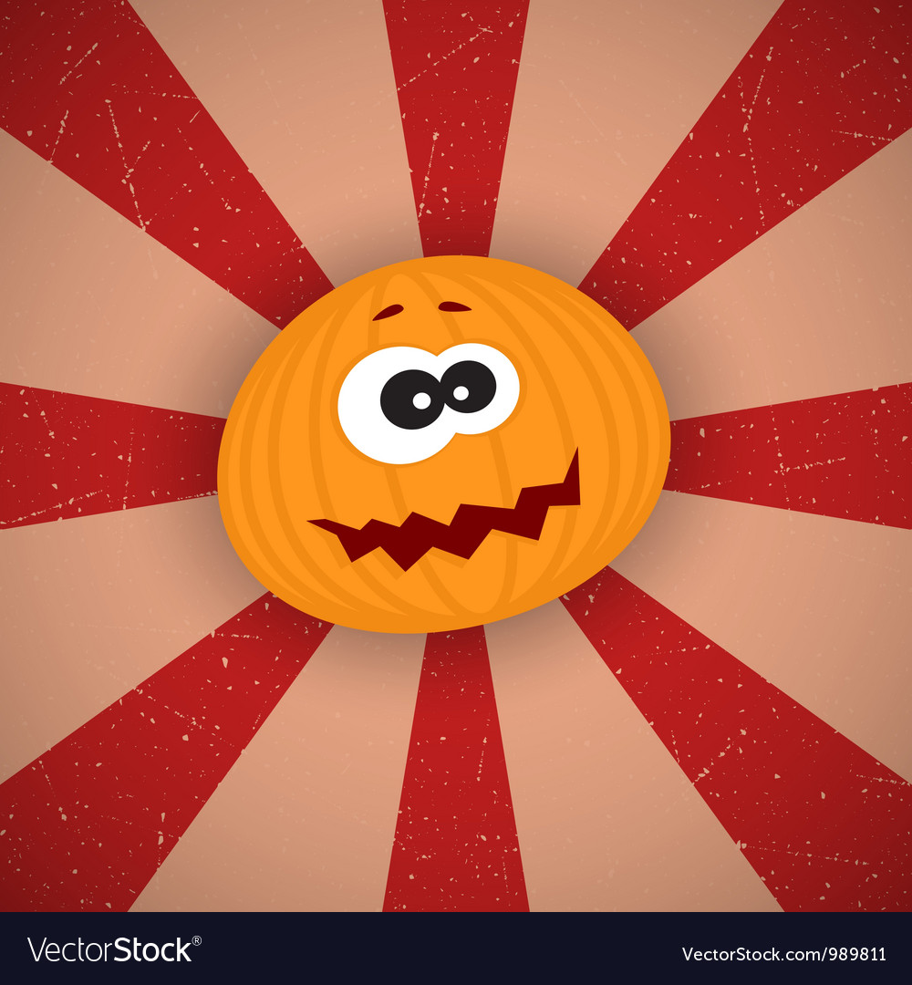 Funny cartoon pumpkin vector | Price: 1 Credit (USD $1)
