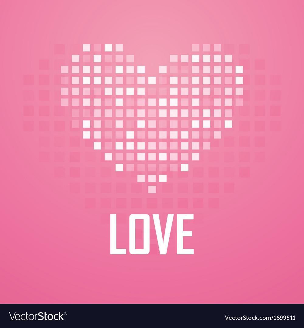 Heart pixel icon vector | Price: 1 Credit (USD $1)