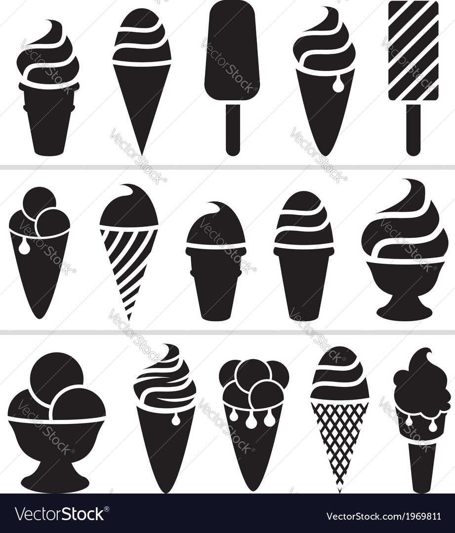 Ice-cream icons vector | Price: 1 Credit (USD $1)