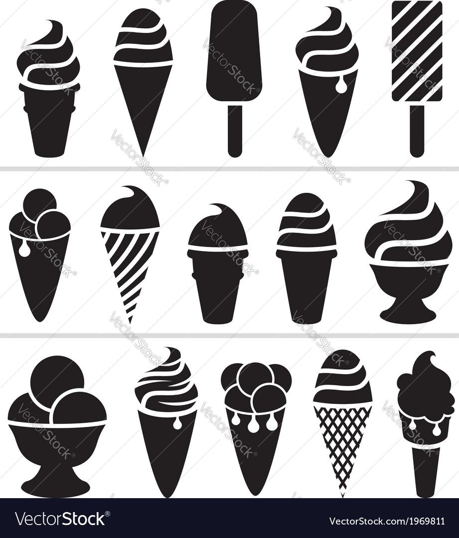 Ice-cream icons vector   Price: 1 Credit (USD $1)