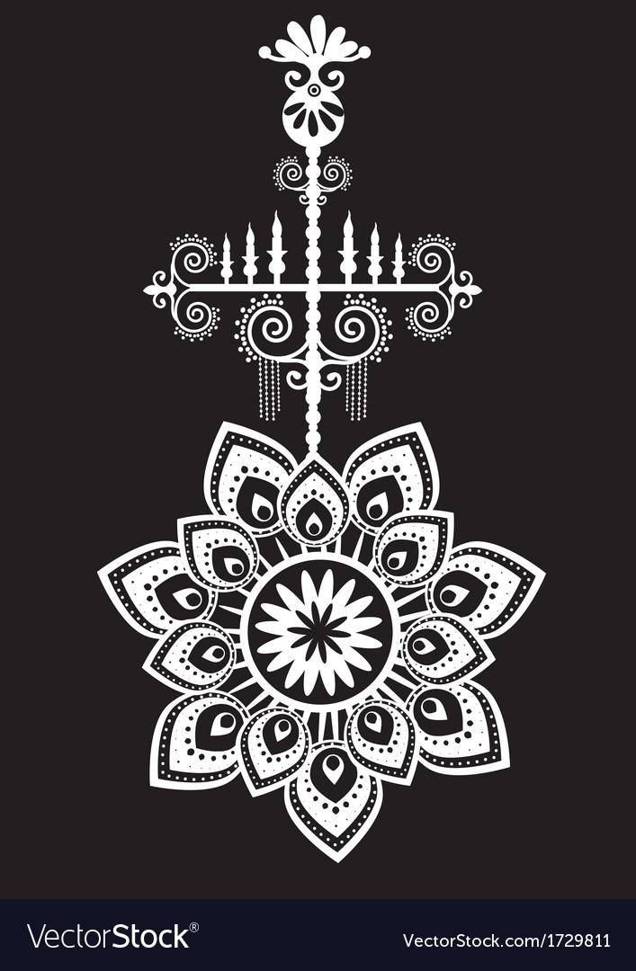 Ornate floral design element vector | Price: 1 Credit (USD $1)