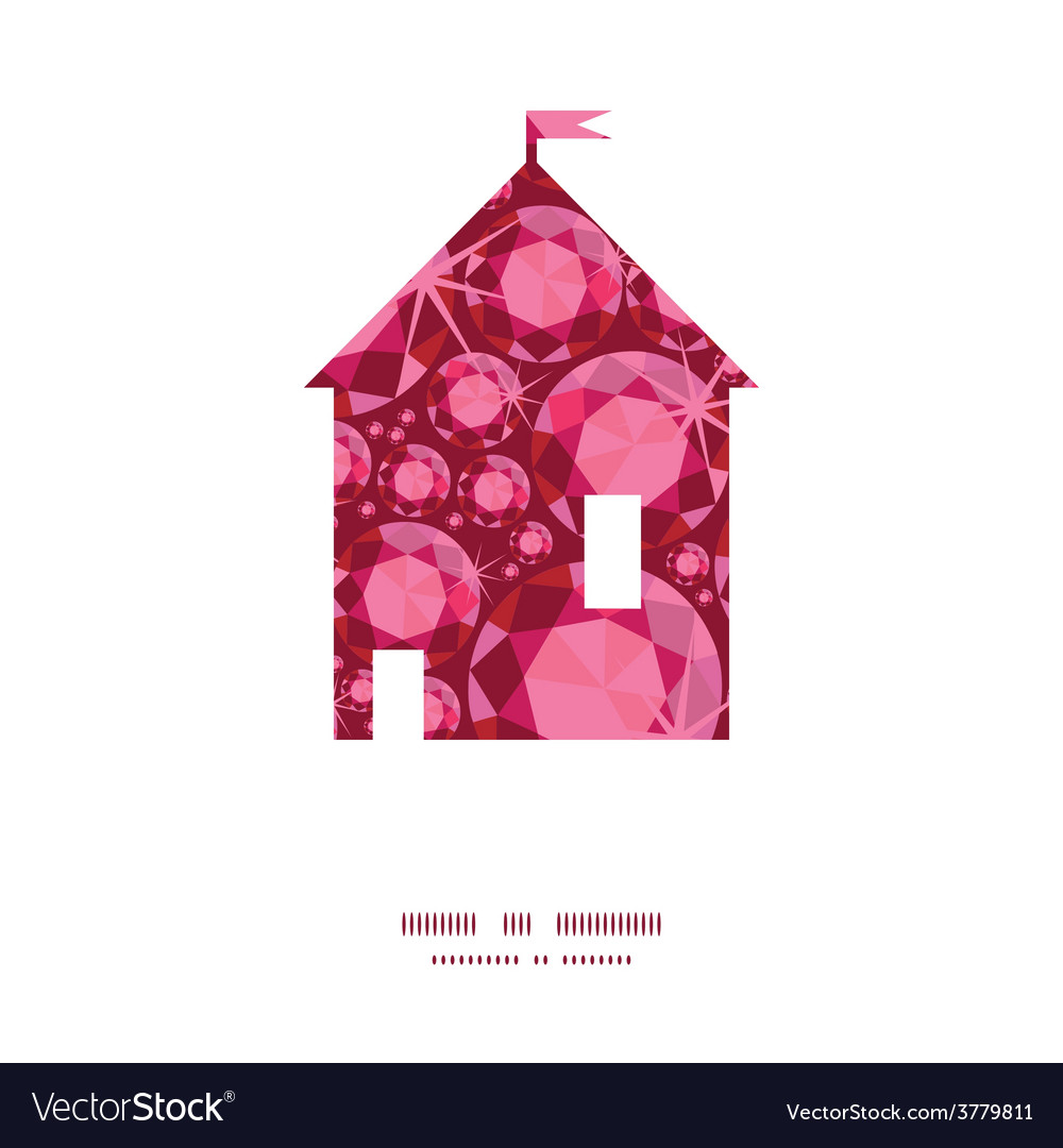 Ruby house silhouette pattern frame vector | Price: 1 Credit (USD $1)