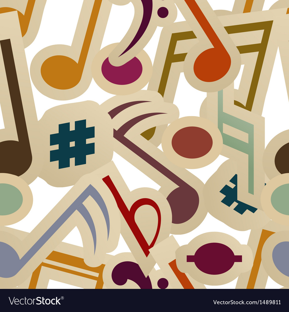 Seamless pattern with music signs vector | Price: 1 Credit (USD $1)
