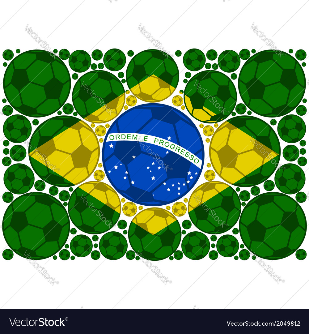 Brazil soccer balls vector | Price: 1 Credit (USD $1)