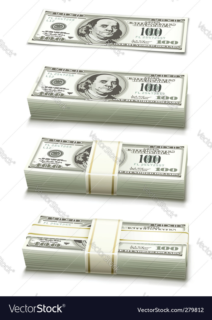 Dollar bank notes vector | Price: 1 Credit (USD $1)
