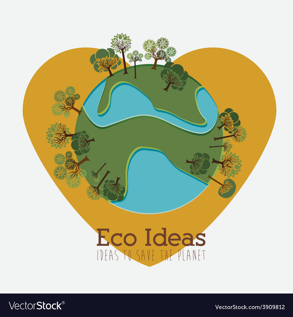 Ecology design over white background vector | Price: 1 Credit (USD $1)