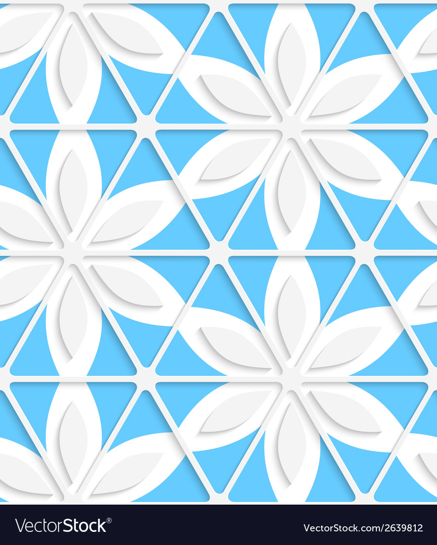Floral with net and blue seamless vector | Price: 1 Credit (USD $1)