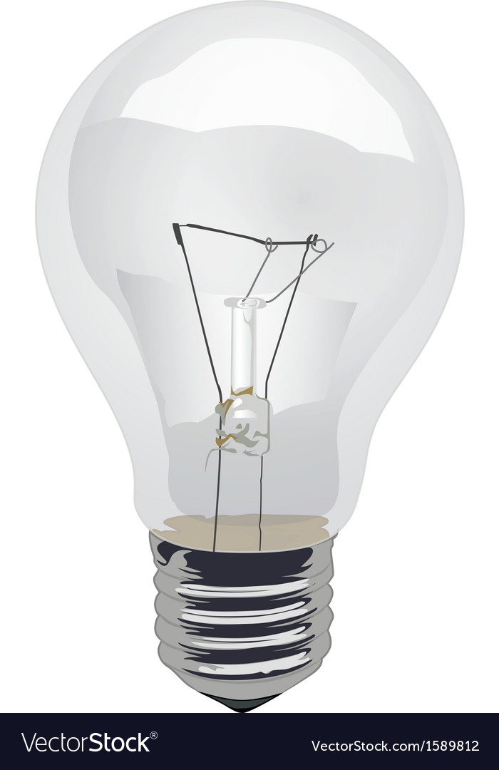 Incandescent-light-bulb-clear vector | Price: 1 Credit (USD $1)