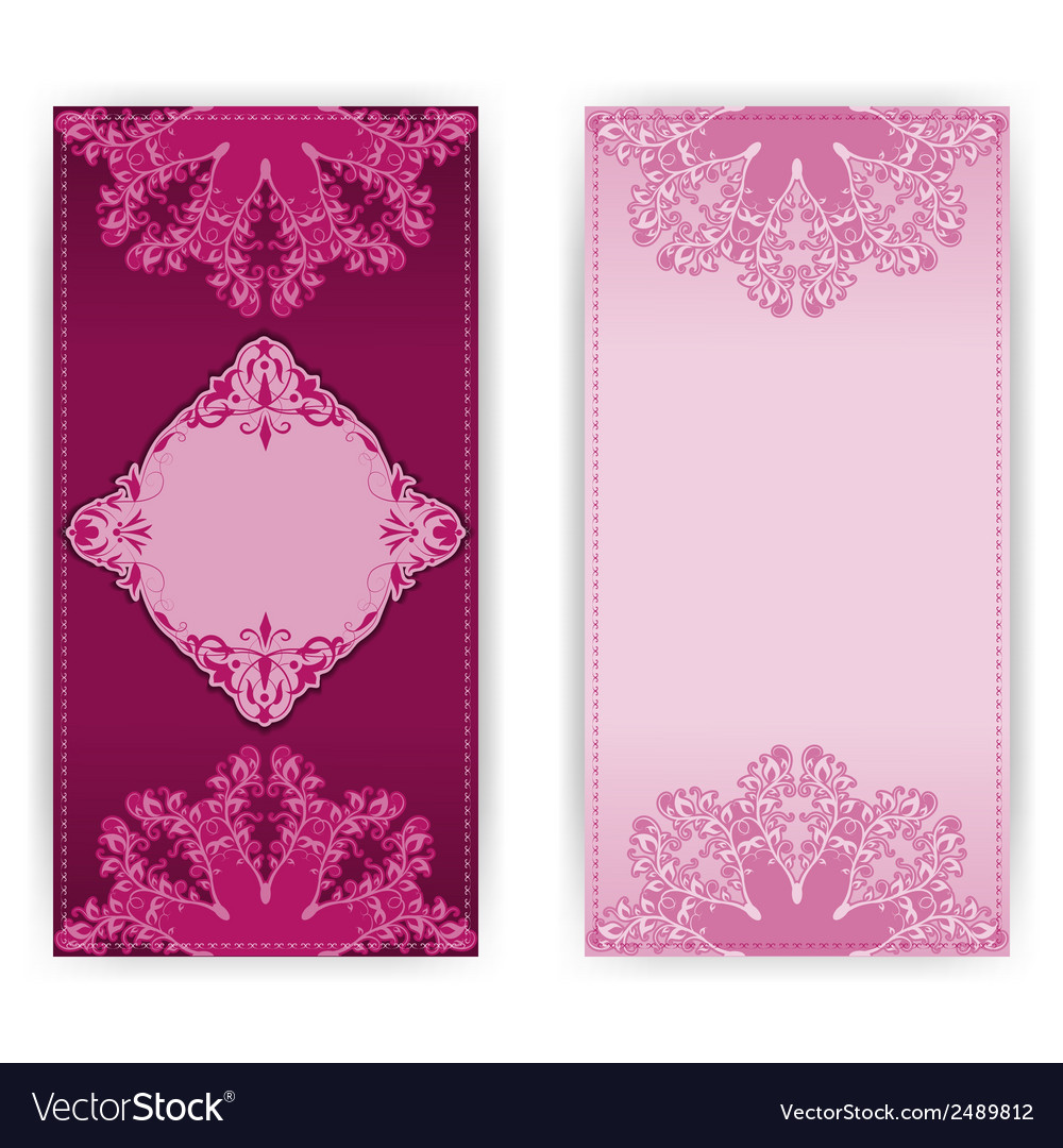 Invitation card with floral pattern vector | Price: 1 Credit (USD $1)