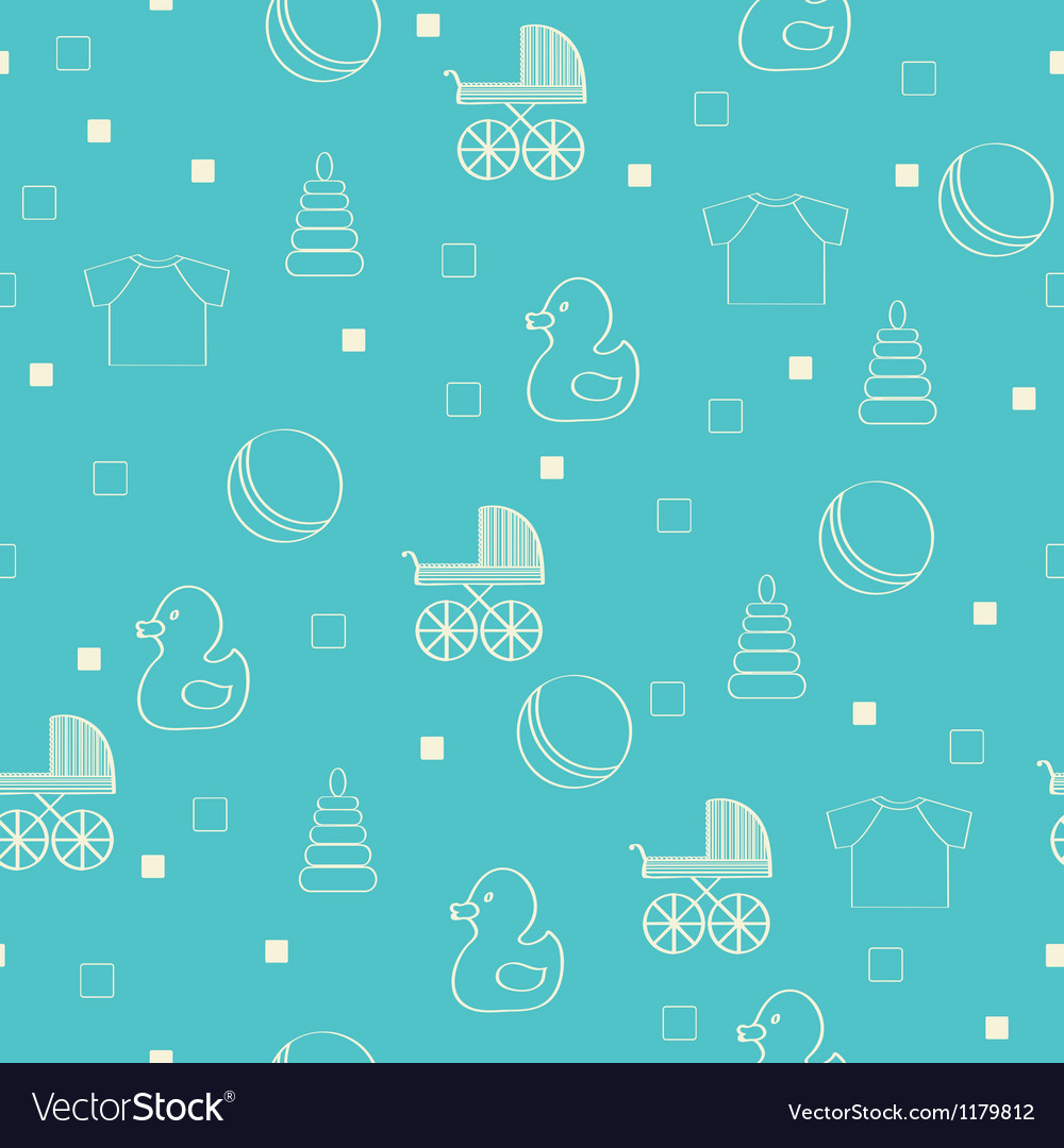 Seamless baby background vector | Price: 1 Credit (USD $1)