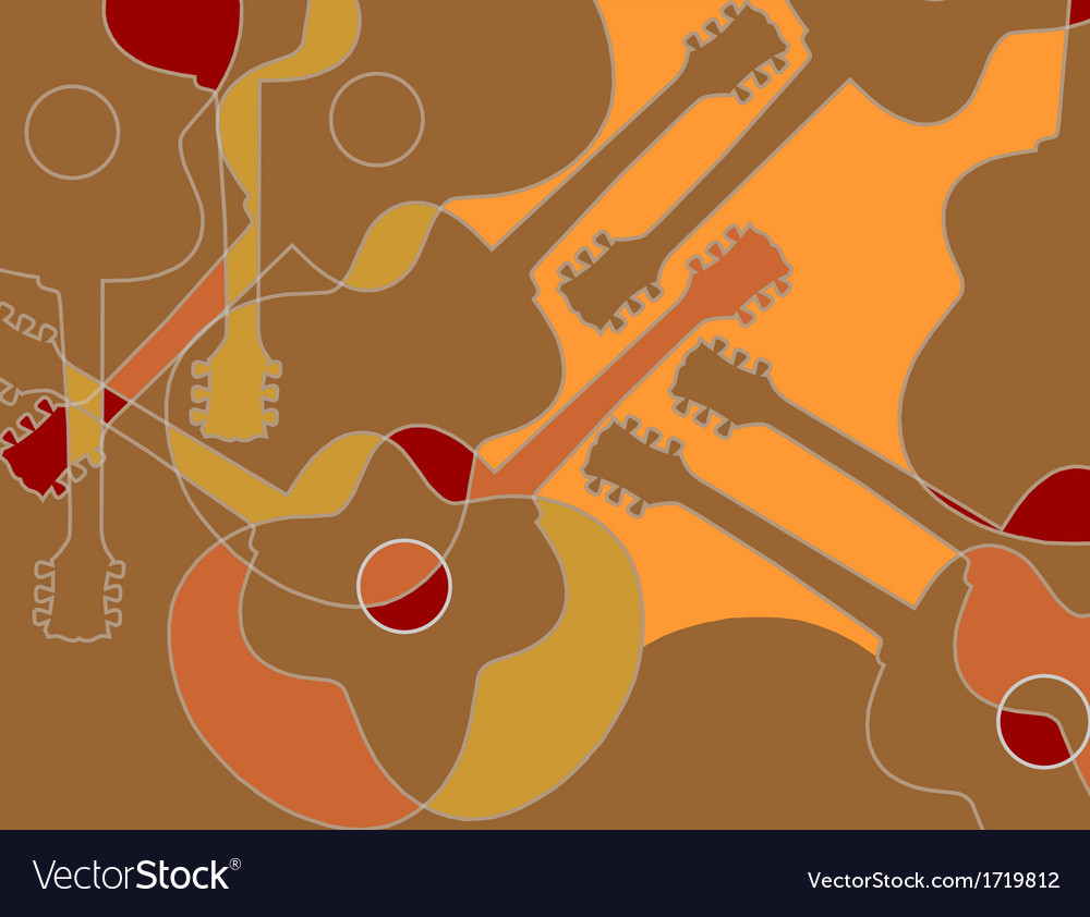Seamless pattern with acoustic guitar abstract vector | Price: 1 Credit (USD $1)