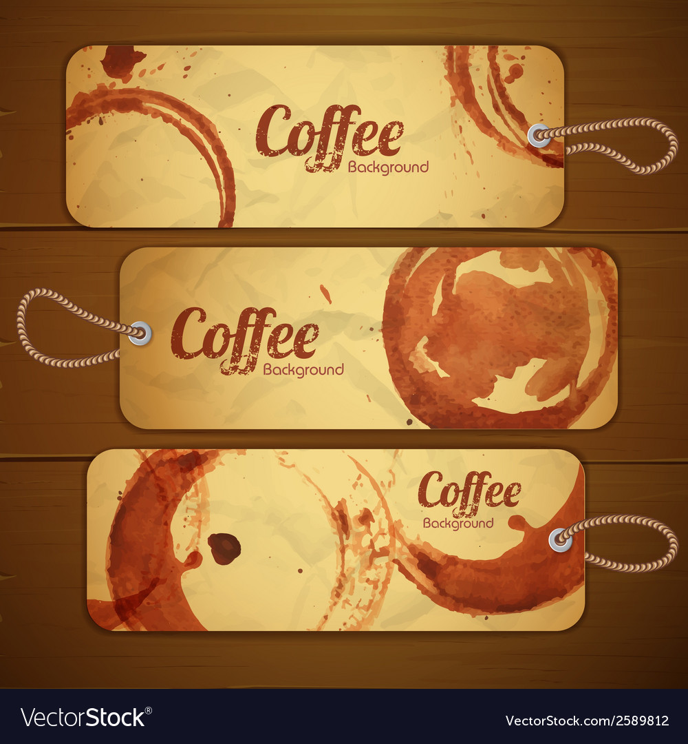 Set of vintage coffee labels vector | Price: 1 Credit (USD $1)