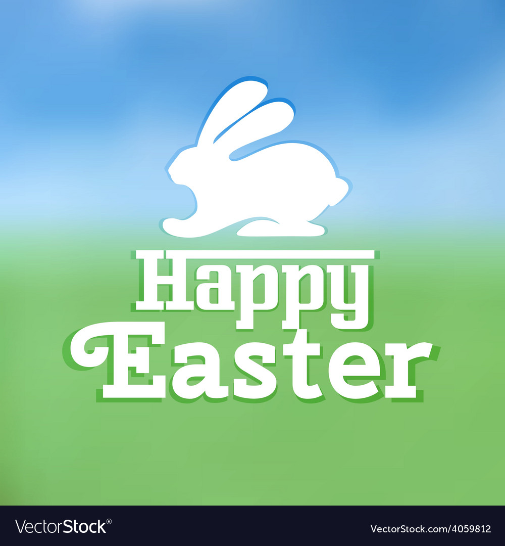 Typographic text on easter theme vector | Price: 1 Credit (USD $1)